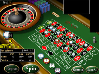 "American ""00"" Roulette game for Mac at Casino Titan"