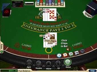 Casino Titan also offers popular casino games like Blackjack