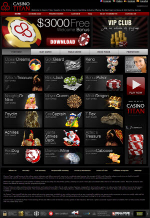 Casino Titan Homepage