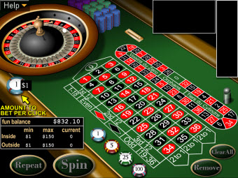 European Roulette game for Mac at Casino Titan
