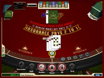 Super-21 Blackjack game